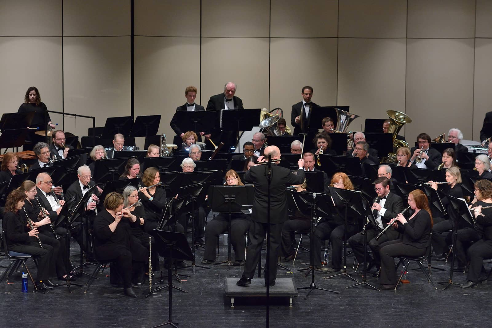 Conductor leading Meridian Community Band